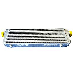 Intercooler 55 x 18 x 6,5 cm double fin with BAFFLED TANK